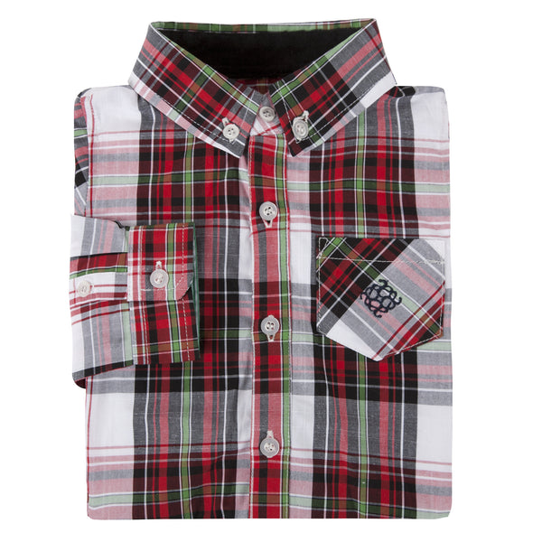 Red Holiday Plaid Shirt - Shopify