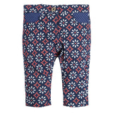 Floral & Hearty: Blue & Pink Geo Floral Capri