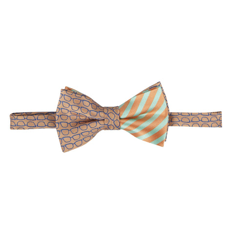 Eye Glasses Print Bowtie: Orange -EVM222asadsasd