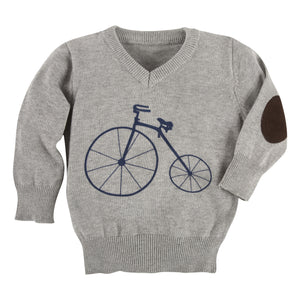 Grey Bicycle Sweater