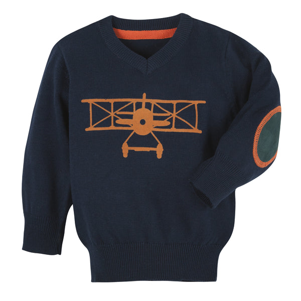 Navy Airplane Sweater - Shopify