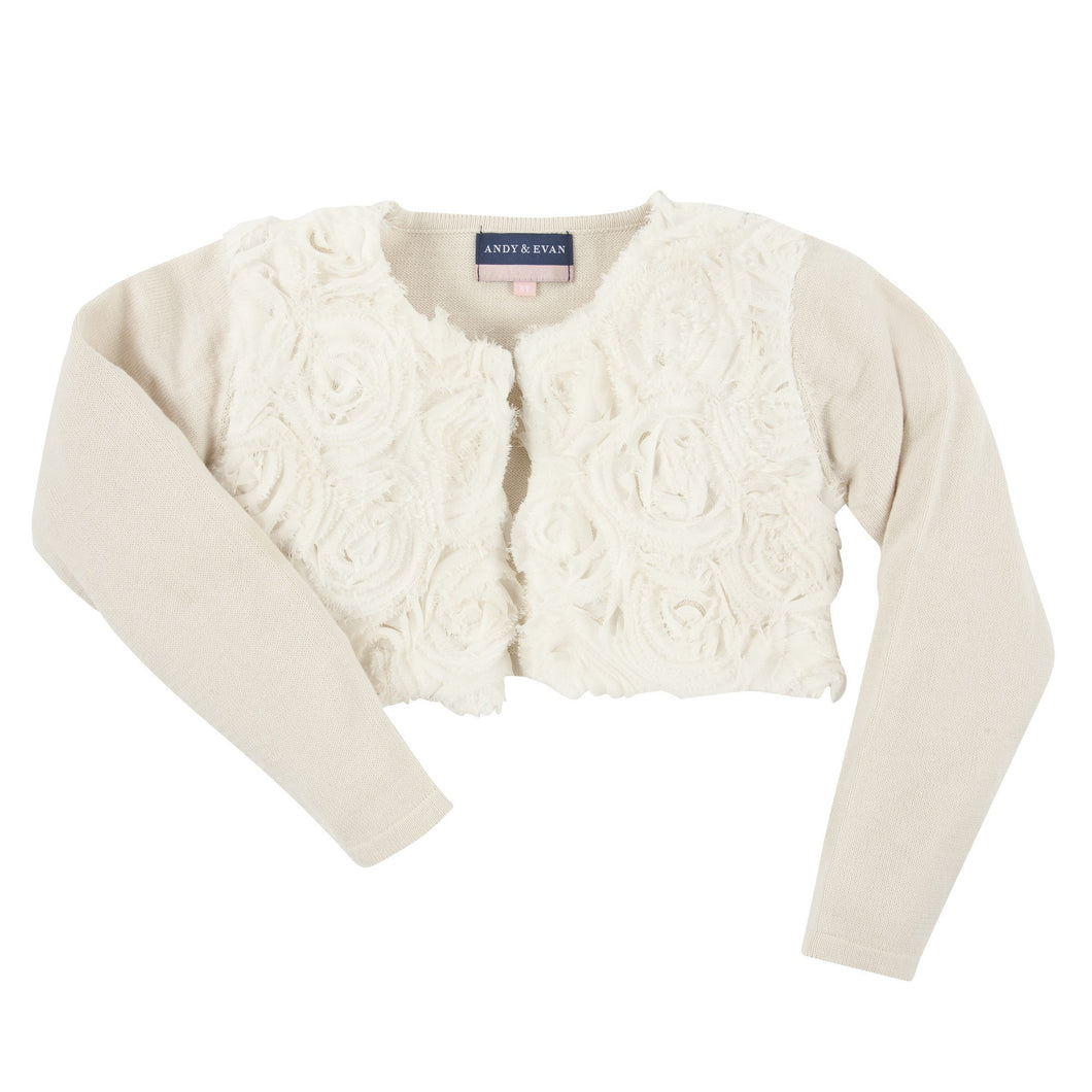 The Cha'cha: Cream Bolero Cardigan