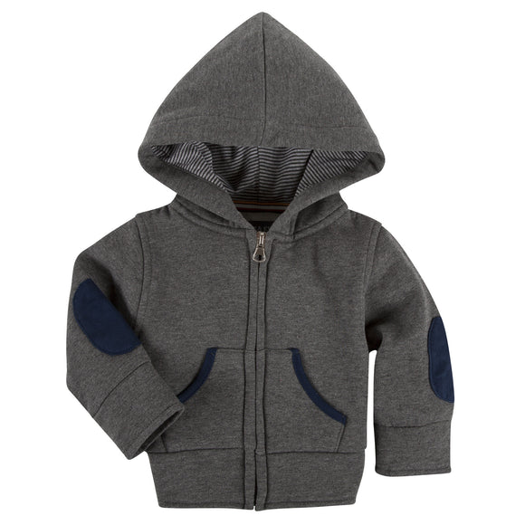 Charcoal Grey Zip Up Hoodie