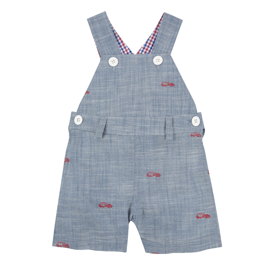My First Andy & Evan Overall: Car Schiffli Overall