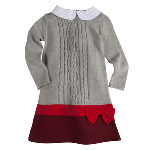 Maroon & Red Cable Knit Dress