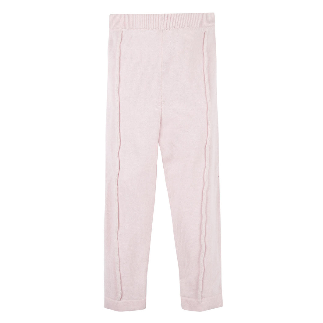 Pink Sweater Knit Pant