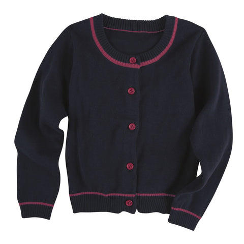 Navy and Hot Pink Cardigan