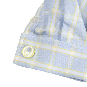 The Chick Magnet: Yellow & Blue Check Shirtzie™/Shirt