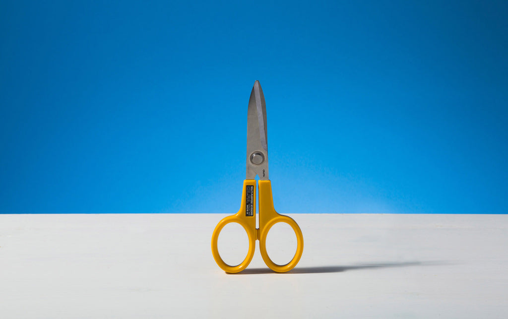 Large Yellow Olfa Serrated Blade Scissors