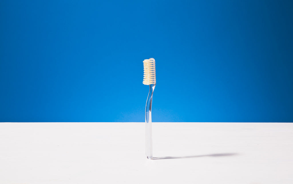 Broad Toothbrush, Transparent, Natural bristles