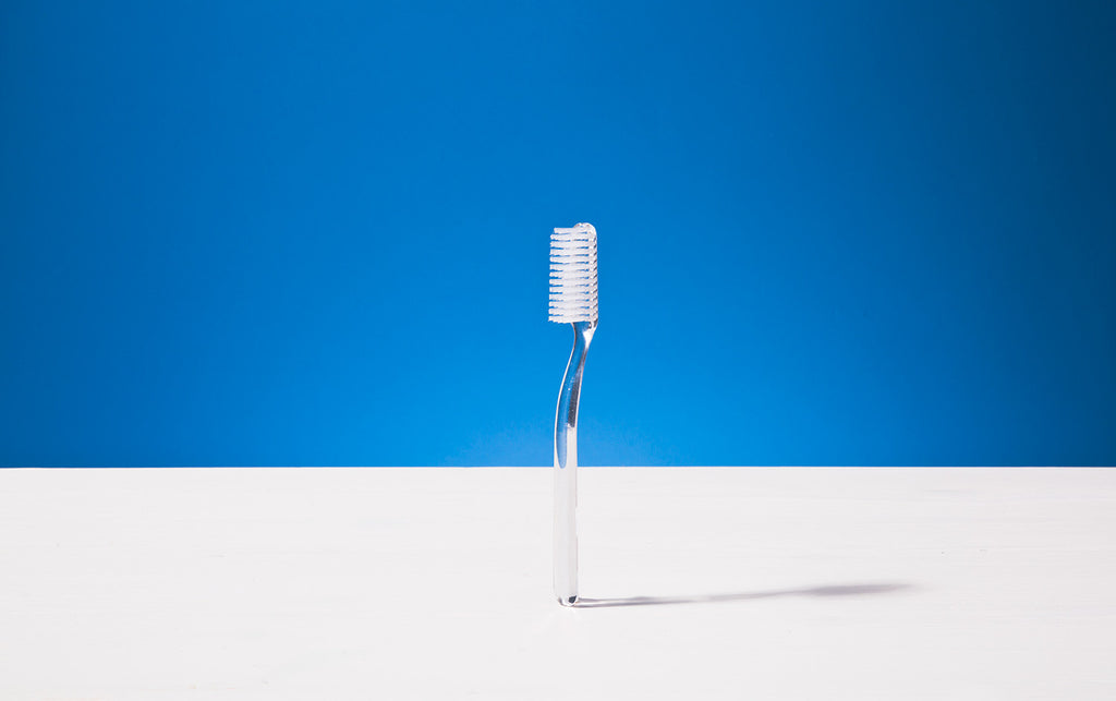 Broad Toothbrush, Transparent, Tynex bristles
