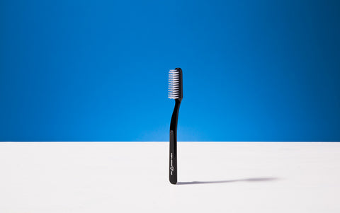 Broad Toothbrush, Black, Tynex bristles