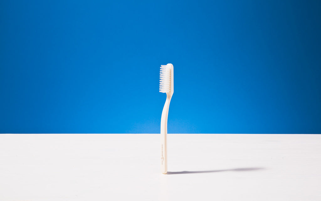 Broad Toothbrush, Ivory colour, Tynex bristles