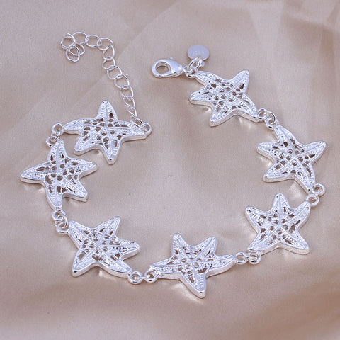 Quality 925 Sterling Silver Plated Stamped Bracelet