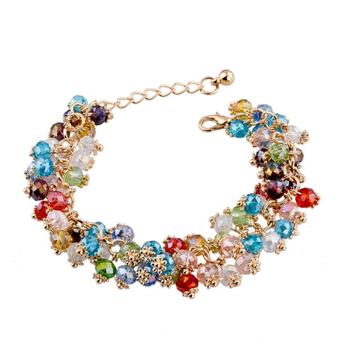 European Styled Gorgeous 18K Gold Plated Swarovski Elements Bracelet Bangle