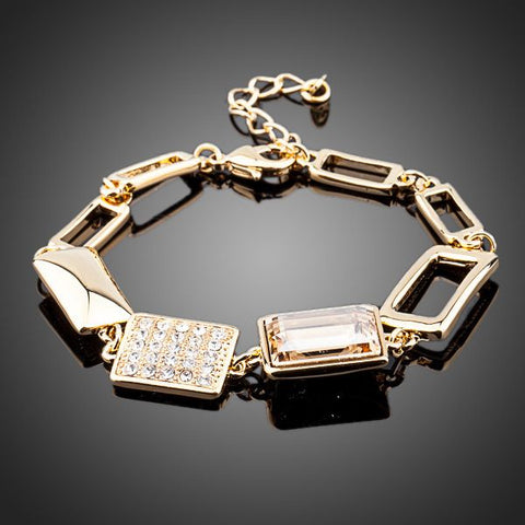 18K Gold Plated Stellux Swarovski Crystal Bracelet - On Sale In Store