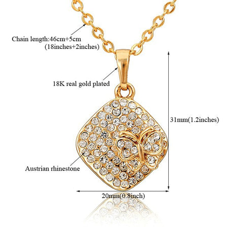 Crystal 18k Gold Plated Necklace