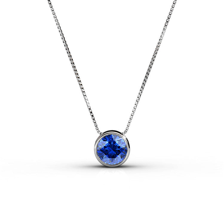 Pendant Necklace Certified Swarovski Crystal Elements 7 Colours - The Fashion Depot