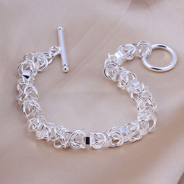 Quality .925 Sterling Stamped Silver Box Link Bracelet - Online In Our Store - The Fashion Depot