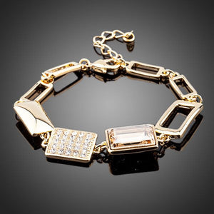 18K Gold Plated Stellux Swarovski Crystal Bracelet - On Sale In Store - The Fashion Depot