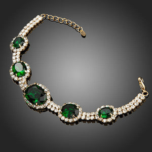 Oval Cut Swiss CZ Stone Luxury Bracelet - The Fashion Depot
