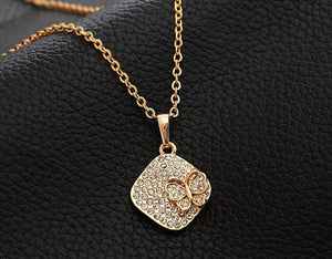Crystal 18k Gold Plated Necklace - The Fashion Depot