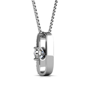 Luxurious Certified Swarovski Element Pendant Necklace 18K White Gold Plating - The Fashion Depot