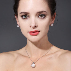 Pearl Pendant Necklace,925 Sterling Silver
