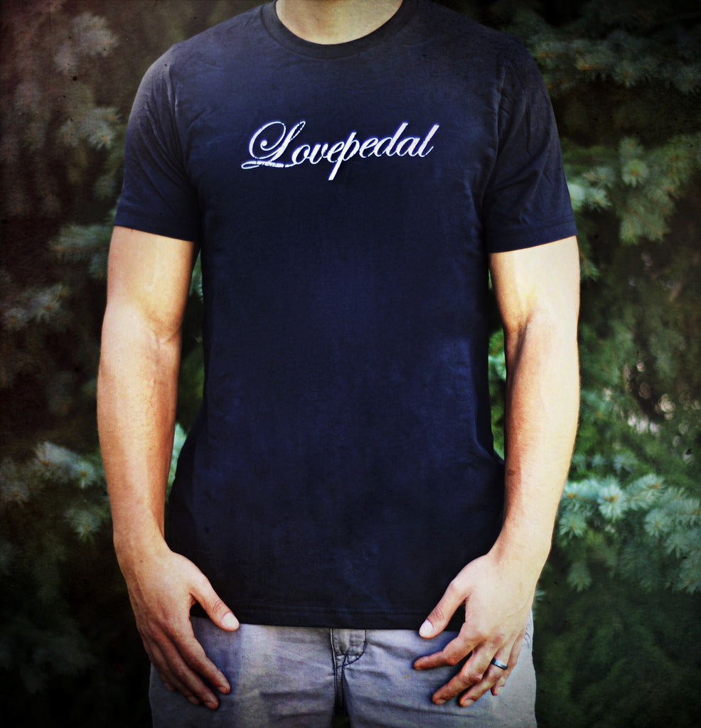 SUPER STUD AWESOME VINTAGE LOGO Lovepedal T shirt in Vintage Black