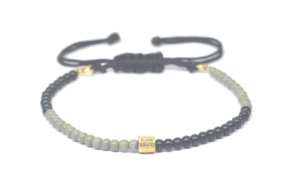 Beadious Anklet Grey & Black