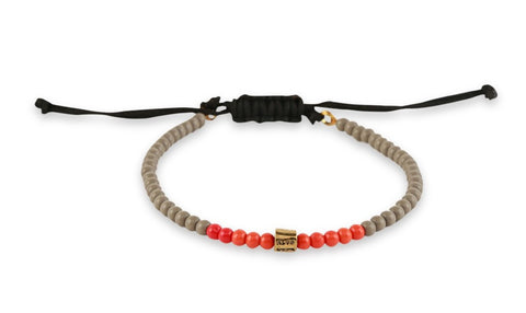 Beadious Anklet Orange & Grey
