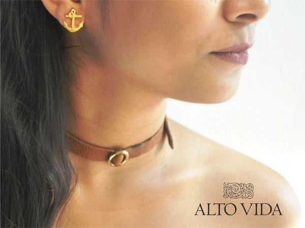 Alto Vida Rock Chic Choker Rustic Brown