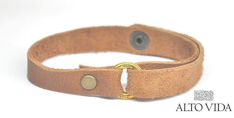 Alto Vida Leather Flip Bracelet Brown
