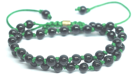 Bead Basix Double Wrap Bracelet Green
