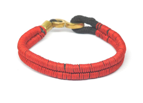soul loops bold bracelet red