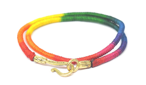 Hook Up Color Party Double Wrap Bracelet