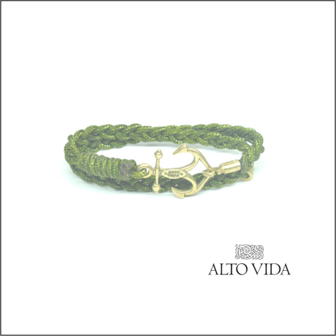 Alto Vida Anchor Mystery Green Double Wrap Bracelet