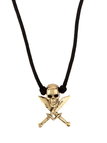 Skully Pirate Cord Necklace