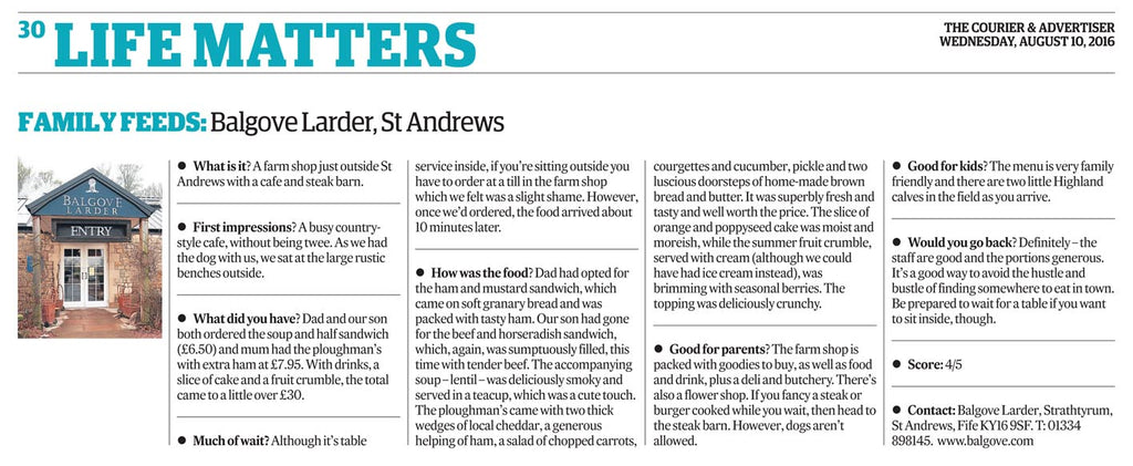 Balgove Larder Farm Shop St Andrews The Courier