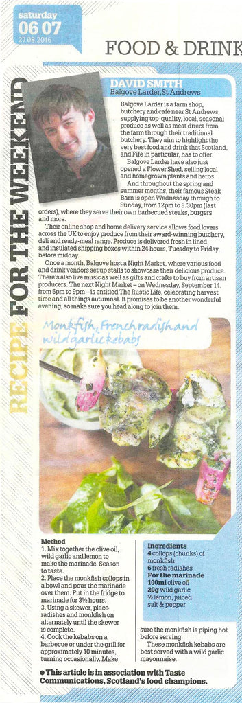 Balgove Larder Farm Shop St Andrews The Daily Record Recipe