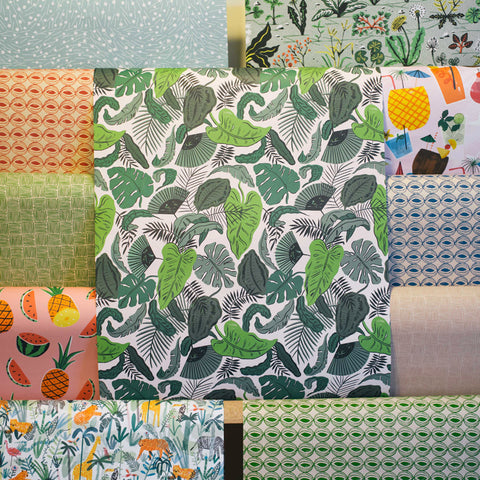 Gift Wrap - Tropical Leaves