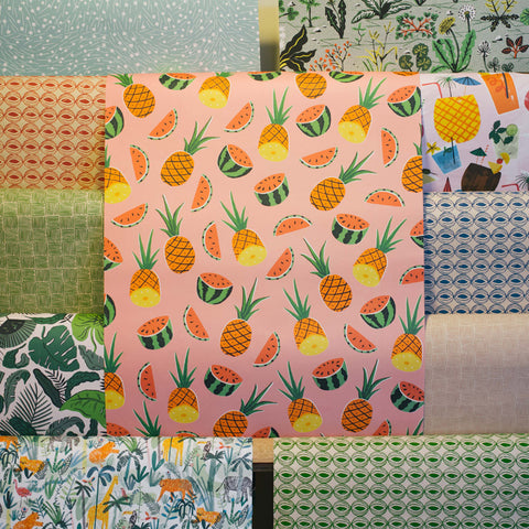 Gift Wrap - Pineapples and Melons