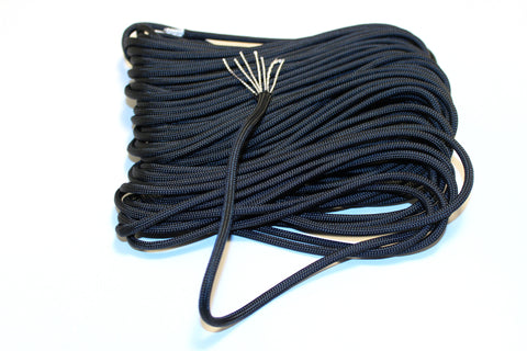 50ft x 3mm Black 550 Paracord