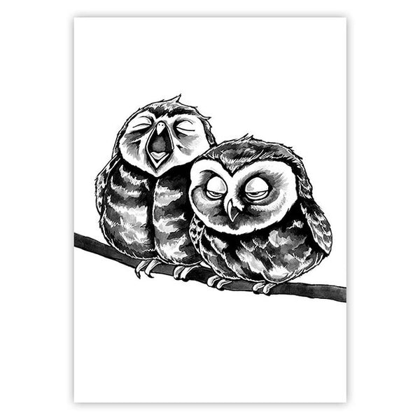 Sleepy owls