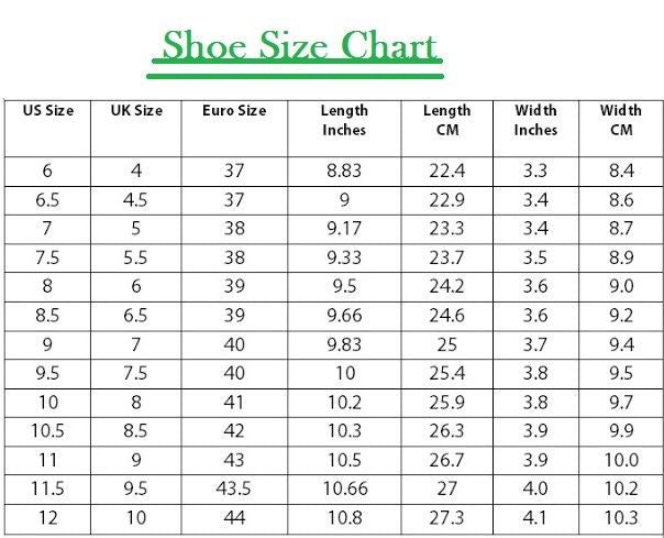 Us To Indian Shoe Size Conversion