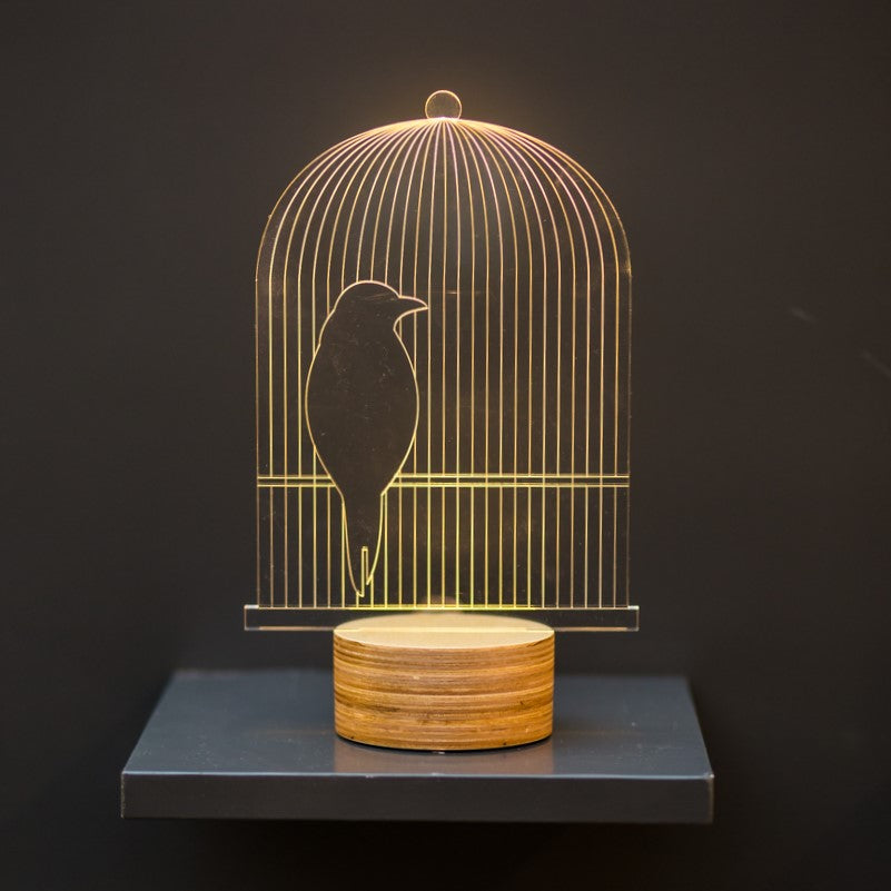 Birdcage Led Lamp