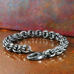 Men's 2-in-2 Bracelet - Sterling Silver with Oxidized Gunmetal Finish