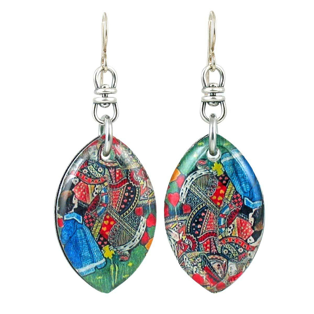 The Red Queen's On Her Head (Alice in Wonderland) Earrings
