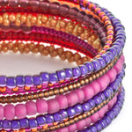 Spiral of Color Coiled Bracelet