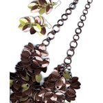 Mahogany & Yellow Cascading A Simple Petal Necklace - Diana Ferguson Jewelry